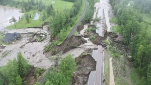 Roads were washed out and parks flooded as heavy rain drenched Northeastern B.C., causing creeks and rivers burst their banks.<br><br>