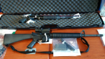 B.C.'s gang task force seized three guns, including an AR15 semi-automatic rifle, during a series of drug busts in the province's Peace Region. June 24, 2016. (Handout)