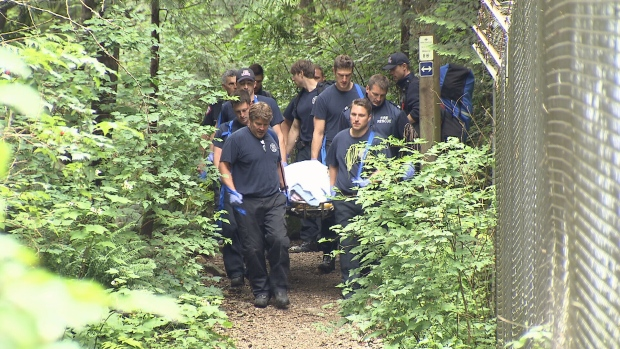 Fire crews are reminding people to be prepared when heading into the woods after a young man suffering from hypothermia was rescued from a North Vancouver trail. (CTV News). June 25, 2016.
