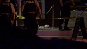 Surrey RCMP are investigating after a stabbing in the doorway of the Taphouse Bar early Sunday morning. (CTV)
