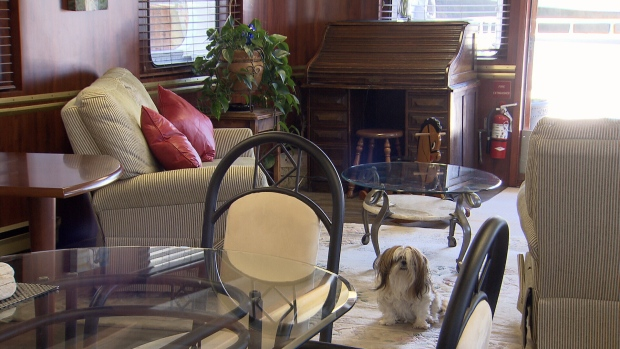 On the inside, the former HMCS Fortune looks like a normal home. (CTV)
