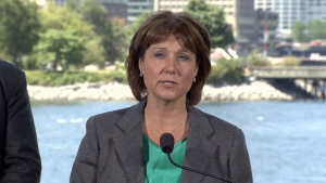 B.C. Premier Christy Clark announces an end to self-regulation in the province's real estate industry. June 29, 2016. (CTV)