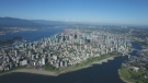 Chopper view of downtown Vancouver