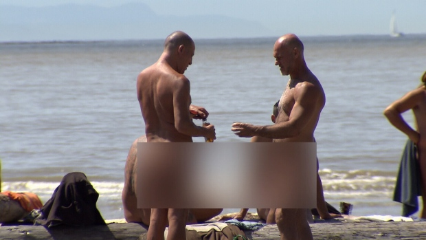 At nearly eight kilometres long, Wreck Beach at the western tip of Vancouver's Pacific Spirit Park is North America's largest clothing optional beach. (CTV News).