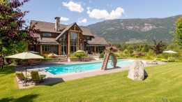 Just a half-hour north of Whistler lies this private Pemberton, B.C., estate on a trout-stocked lake. Boasting views of the Pemberton icefields and Mount Currie, the five-bedroom house with separate one-bedroom loft suite sits on 2.5-acres of organic and manicured grounds. Outside you'll find a 75-metre pool, in-ground hot tub and outdoor living room. Listed for $4.25 million through John Ryan Personal Real Estate Corporation. (RealEstateinWhistler.com)