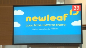 Canadian discount airline NewLeaf is offering travellers the opportunity to bid on potentially vacant seats. (CTV)