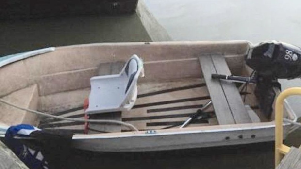 RCMP are appealing to the public for help in finding the owner of a capsized boat discovered Friday night in Richmond. (CTV)