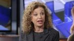 Democratic National Committee (DNC) Chair, Rep. Debbie Wasserman Schultz, D-Fla is interviewed in New York on March 21, 2016. (AP Photo/Richard Drew)