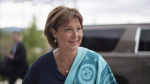 B.C. Premier Christy Clark arrives for a meeting of Premiers in Whitehorse, Yukon, on July, 22, 2016. Clark's government must walk a fine line between creating affordable housing and causing a crash, as real estate prices loom large over the upcoming election, experts say. (THE CANADIAN PRESS/Jonathan Hayward)
