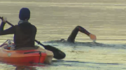 Endurance swimmer makes history in Okanagan Lake