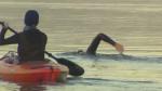 Endurance swimmer makes history in Okanagan Lake