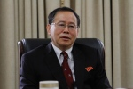 Han Song Ryol, director-general of the U.S. affairs department at North Korea's Foreign Ministry, talks during an interview with the Associated Press in Pyongyang, North Korea, Thursday, July 28, 2016. (AP Photo/Kim Kwang Hyon)