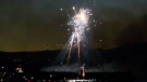 Elaborate, and rare, fireworks show Saturday night