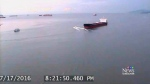 Camera captures near-miss between boats in inlet