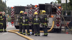 Firefighters found a man in the basement of the abandoned building on Granville Street's 7300-block. (CTV)