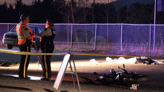 A man is dead after a motorcycle accident in Chilliwack
