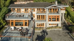 This 7,166 square-foot, three level luxury home is located at the end of a peaceful cul-de-sac in West Vancouver. Features include six-bedrooms, seven-bathrooms, gorgeous ocean and city views, outdoor terraces, a home gym, and a three car garage. Interested? 3285 Dickinson Cres. could be yours for $7.7-million. (Royal LePage Sussex - Jason Soprovich).