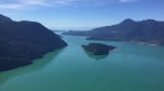 Howe Sound is seen from CTV's Chopper 9 on Tuesday, Aug. 23, 2016. (Pete Cline / CTV Vancouver)