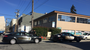 Police were called to a building near 7th Avenue and Columbia Street after a tenant found what appeared to be explosives on Tuesday afternoon. (CTV)