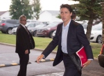 Prime Minister Justin Trudeau arrives at the beginning of a two-day caucus meeting in Saguenay Que. on Thursday, Aug. 25, 2016. (Jacques Boissinot/THE CANADIAN PRESS)
