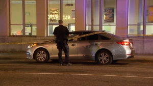 A man is in hospital with serious injuries after a targeted shooting in East Vancouver Friday night. (CTV News). Aug. 27, 2016.