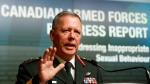 Chief of Defence staff General Jonathan Vance speaks during a news conference to , in Ottawa Tuesday August 30, 2016. The Canadian Armed Forces says it is making progress in the fight against sexual misconduct in the ranks, but much more work needs to be done. THE CANADIAN PRESS/Fred Chartrand