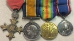 Four of the war medals found in Agassiz are seen in an RCMP photo.