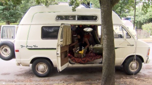 A Dodge Ram van nicknamed 'Moonbeam' is booked solid, renting for between $50 and $80 a night.