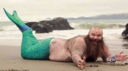 'Dudeoir' photo shoot: From burly man to merman
