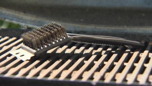 After scrubbing your grill with a brush, it can also be a good idea to wipe your grill with a soft cloth or paper towel. (CTV)