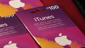 The Canadian Anti-Fraud Centre says that if you are asked to pay for any service or product with an iTunes card, it's a scam. (CTV)