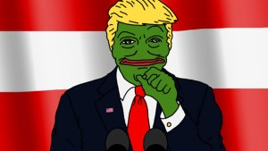 This image from Donald Trump's Twitter account shows Trump drawn as Pepe the Frog, a popular internet meme, on Oct. 13, 2015. (Twitter / Donald Trump)