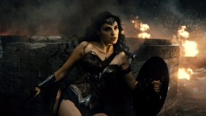 "This image released by Warner Bros. Entertainment shows Gal Gadot as Wonder Woman in a scene from, ""Batman V. Superman: Dawn Of Justice."" (Warner Bros. Entertainment via AP)"