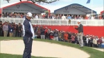 Heckler's putting skills put to test at Ryder Cup