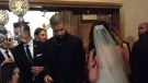 Canadian rapper Drake at a wedding in Windsor, Ont. on Oct. 22, 2016. (Twitter/@KelseyBoiss)
