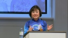 Kim Phuc speaks at Kitchener Baptist Church on Sunday, Oct. 23, 2016.