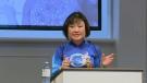 Kim Phuc speaks at Kitchener Baptist Church on Sunday, Oct. 23, 2016.