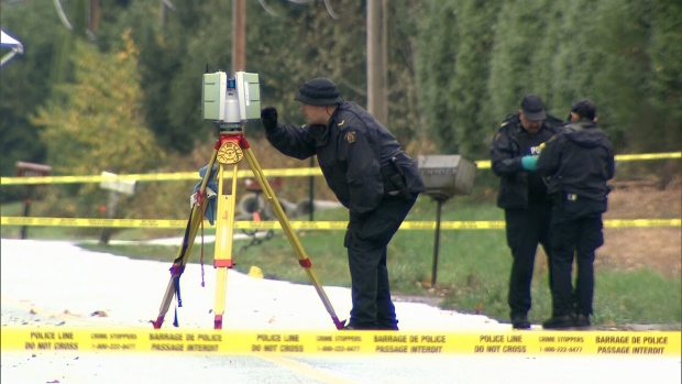 The death of a man who was found dismembered in Langley this week is linked to gang activity, according to police. Oct. 26, 2016. (CTV)