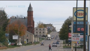 The town of Woodstock, Ont. is seen here.