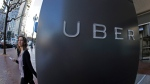 A British employment tribunal ruled Friday Oct. 28, 2016, in favor of Uber arguing it is a technology company linking self-employed drivers with people who need rides, and leaving their drivers without entitlement to minimum wages or vacation time. (AP Photo/Eric Risberg, FILE)