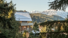 """While some Metro Vancouver residents are struggling to afford even basic shelter, others are building &#39;bat caves&#39; into their ski chalets in Whistler.  <br><br> If you&#39;re in the market or want the opportunity to day dream, these photos show a unique home on Snow Valley Place, listed at $3,675,000. <br> Other than its size (4,300 square feet), the log home appears somewhat traditional from the outside. But inside, the home is full of giant logs used as beams, a sauna, a library, wine cellar and a private suite the owner&#39;s realtor is calling a &#39;bat cave.&#39; The entrance to the so-called cave is not immediately visible, hidden behind a stack of boulders at the side of the home. The &#39;cave&#39; is a private suite accessed by a rusty-looking door, built into the rock. <em>(Photos via <a href=""""http://www.realestateinwhistler.com/real-estate-listing/2453-snow-valley-place-whistler/"""" target=""""_blank"""">John Ryan Personal Real Estate Corporation</a>)</em>"""
