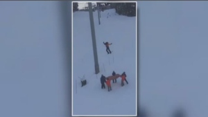 A 14-year-old snowboarder was reportedly injured after slipping off the Emerald Express Chair on Whistler Mountain.