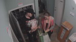 Surveillance cameras caught a man and woman taking mail from a townhouse complex in Surrey on Dec. 3, 2016.