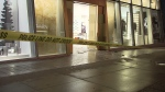Images from the scene show the glass at the front of the store completely shattered. (CTV News). Dec. 10, 2016.