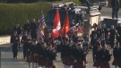 Hundreds of people gathered in Mill Bay on Saturday to celebrate the life of Malahat's volunteer fire chief, Rob Patterson. Jan. 14, 2017 (CTV Vancouver Island)