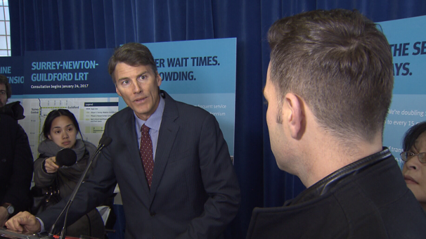 Vancouver Mayor Gregor Robertson praised staff for their handling of weather challenges in the city while he was on holiday. Jan. 17, 2017. (CTV)