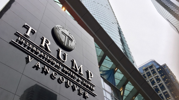 The Trump International Hotel & Tower in downtown Vancouver is seen in this undated CTV News file photo.