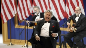 Tony Orlando performs at The Salute To Our Armed Services Inaugural Ball Friday, Jan. 20, 2017, in Washington. (AP Photo/David J. Phillip)