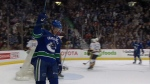 Henrik Sedin recorded the 1,000th point of his NHL career on a goal in the second period before Luca Sbisa scored the winner in the third as the Canucks defeated the Florida Panthers 2-1 on Friday night. Jan. 20, 2017.