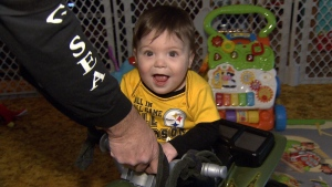 Baby Salvatore (which translates to savior) loves his toys, attention, and is a very happy little boy. (CTV News). Jan. 22, 2017.